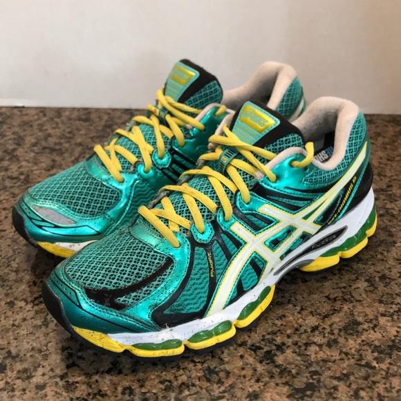 ASICS Gel Nimbus 15 green running training shoe 10